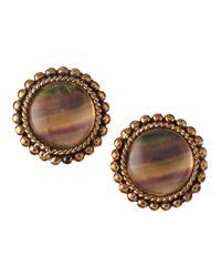Stephen Dweck - Metallic Fluorite Button Clip Earrings - Lyst