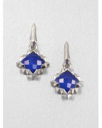 Stephen Webster Blue Agate Doublet & Sterling Silver Drop Earrings