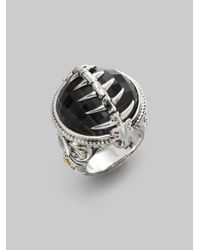 Stephen Webster | Metallic Grey Cats Eye Crystal Haze Sterling Silver Fish Skeleton Ring | Lyst