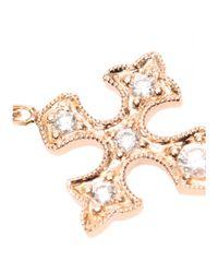 Stone - Metallic 18kt Pink Gold Bracelet with White Pavé Diamonds - Lyst