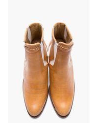 Surface To Air Brown Tan Leather Cutout Serra Chelsea Cowboy Boots