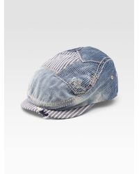 True Religion | Blue Denim Ivy Cap for Men | Lyst