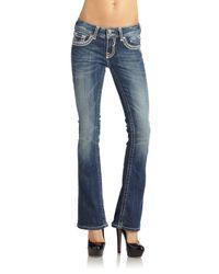 Vigoss Blue Embellished Bootcut  Jeans