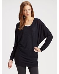 Vince - Black Slouchy V-back Sweater - Lyst