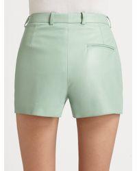 3.1 Phillip Lim Green Leather Short