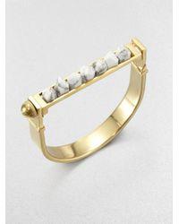 A.L.C. - Metallic Howlite Manacle Bangle Bracelet - Lyst