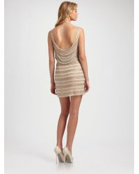Alice + Olivia | Natural Gabby Embellished Tank Dress | Lyst