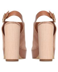 Carvela Kurt Geiger Natural Kake Suede Block Heel Platform Sandals