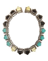 Fenton | Metallic Shinde Pointed Gem Collar | Lyst