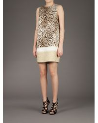 Giambattista Valli Multicolor Leopard Print Dress