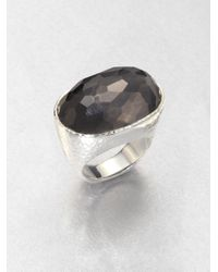 Ippolita | Metallic Hematite Doublet Sterling Silver Oval Ring | Lyst