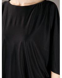 Issa Black Silk Jersey Jumpsuit