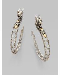 John Hardy | Metallic Naga Dragon Hoop Earrings | Lyst