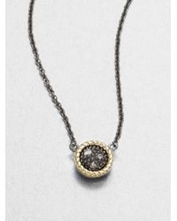 Jude Frances | Black Grey Diamond Accented 14k Gold Sterling Silver Pendant Necklace | Lyst