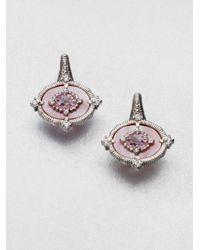 Judith Ripka | Pink Semiprecious Multistone Oasis Earrings | Lyst