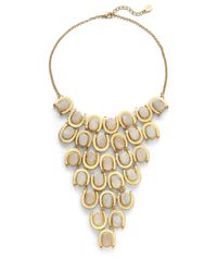 Kara Ross | White Horse shoe Bib Necklace | Lyst