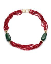 Kenneth Jay Lane | Green Necklace | Lyst