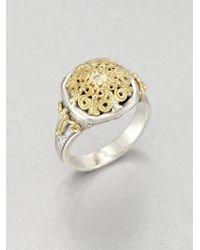 Konstantino - Metallic Diamond 18k Gold Sterling Silver Ring - Lyst