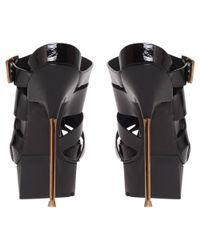 Kurt Geiger Black I Win Occasion Leather Platform Mules