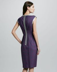 Marc By Marc Jacobs Purple Womens Clover Check Dress