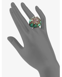 M.c.l  Matthew Campbell Laurenza | Starstuck Multicolored Sapphire Pavé Ring | Lyst