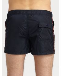 Moncler - Blue Classic Swim Trunks for Men - Lyst