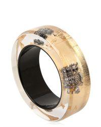 Nicholas King Metallic Owl Bangle Bracelet