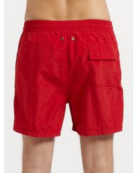 Polo Ralph Lauren | Red Hawaiian Swim Shorts for Men | Lyst