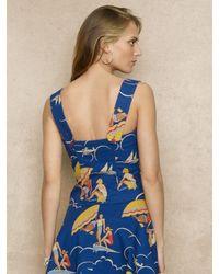 Ralph Lauren Blue Label Blue Nautical Print Camisole