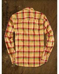 Ralph Lauren Red Cowboy Western Button Down Shirt for men