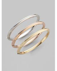 Roberto Coin | Metallic Classica 18k Rose Gold Knife-edge Bangle Bracelet | Lyst