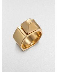 Saint Laurent | Metallic Clou De Paris Ring | Lyst