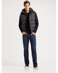 Scotch & Soda - Black Hooded Puffer Vest for Men - Lyst