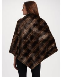 Sherry Cassin | Brown Faux Mink Sophie Poncho | Lyst