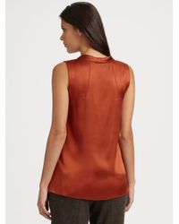 Tory Burch - Brown Jasmine Satin Blouse - Lyst