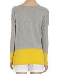 Vince - Gray Banded Colorblock Sweater - Lyst