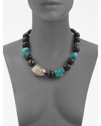 Alexis Bittar - Black Zanzibar Beaded Necklace - Lyst