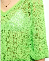 American Vintage Green Loose Knitted Sweater