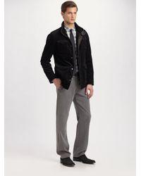 Armani - Black Pinwale Corduroy Jacket for Men - Lyst