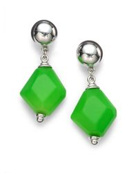 Ben-Amun - Metallic Geometric Neon Drop Earrings-green - Lyst