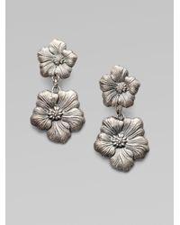 Buccellati | Metallic Blossom Sterling Silver Double Drop Earrings | Lyst
