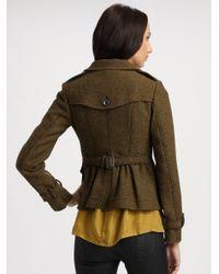 Burberry Brit Green Tweed Jacket