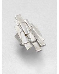 Ca&Lou | Metallic Sculptural Layered Ring | Lyst