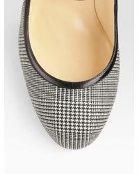 Christian Louboutin - Gray Roudounia Houndstooth Mary Jane Pumps - Lyst