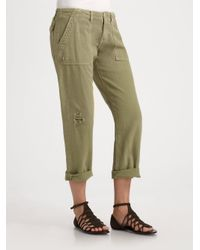 Current/Elliott - Green The Army Pants - Lyst
