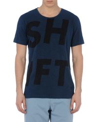 Edun Blue Short Sleeve T-shirt for men