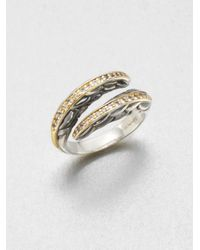 Elizabeth and James | Metallic Sapphire Accented 23k Gold Sterling Silver Wrap Ring | Lyst