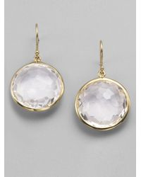 Ippolita | White Lollipop Clear Quartz & 18k Yellow Gold Large Drop Earrings | Lyst