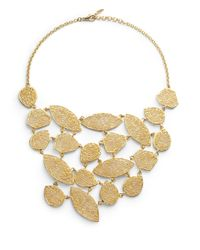 Isharya | Metallic Filigree Bib Necklace | Lyst