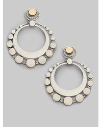John Hardy - Metallic Sterling Silver & 18k Gold Large Round Earrings - Lyst